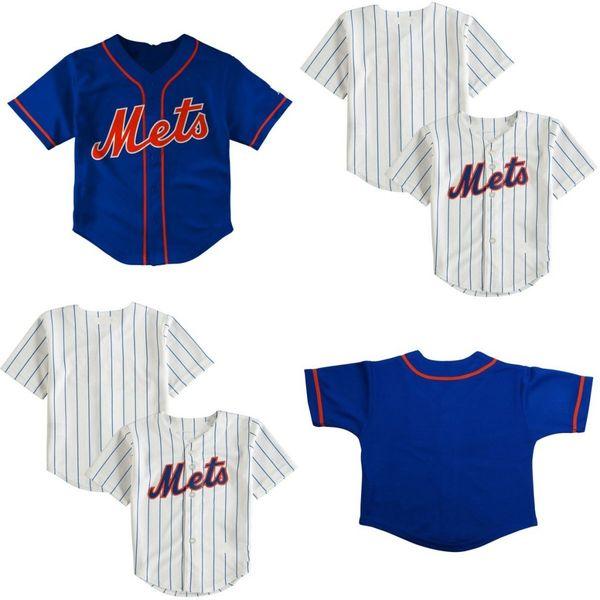 Kleinkind Baby Jacob deGrom Darryl Erdbeere Noah Syndergaard Dwight Gooden Mike Piazza Michael Conforto Mets Jersey genäht