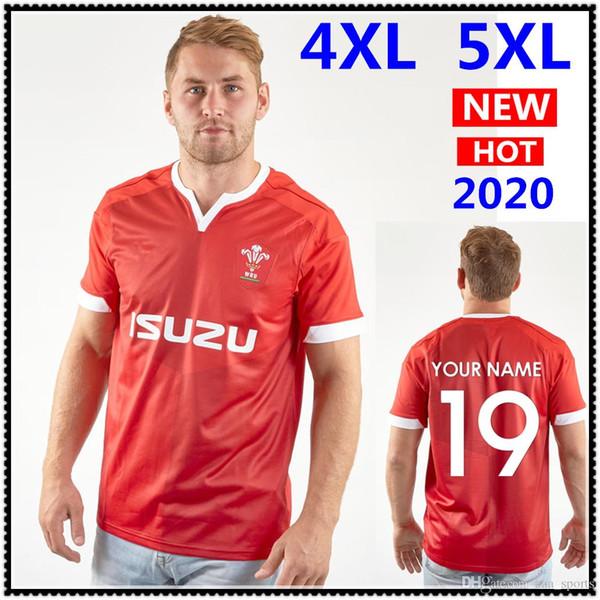 Le nom et le numéro de l'équipe nationale de Rugby Jersey 2020 Wales maillots de rugby du Pays de Galles chemise meilleure qualité