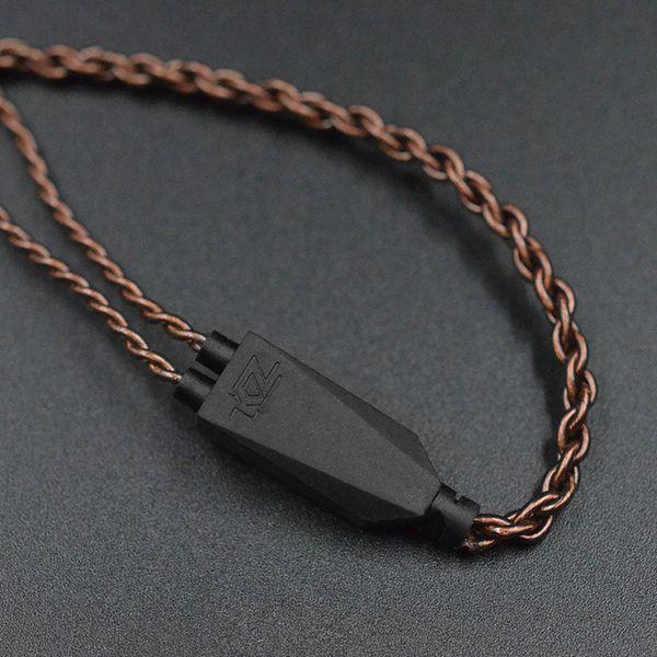 HEAP Accessoires d'écouteurs KZ Eerphone Câble d'origine Câble de mise à niveau de torsion de cuivre sans oxygène sans oxygène 0.75 mm PIN plaqué or KZ-ZS6 Z ...