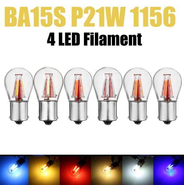 Lampe de secours inversée d'ampoule de clignotant à LED de voiture de l'ÉPI LED de voiture de 1156 BA15S P21W 450LM