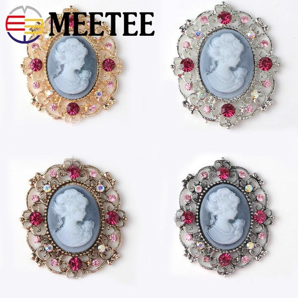 meetee 10pcs Vintage Rhinestone Buttons Clothes Decorative Buttons Fashion Shoes Buckles DIY Wedding Decor Invitation Card Crafts