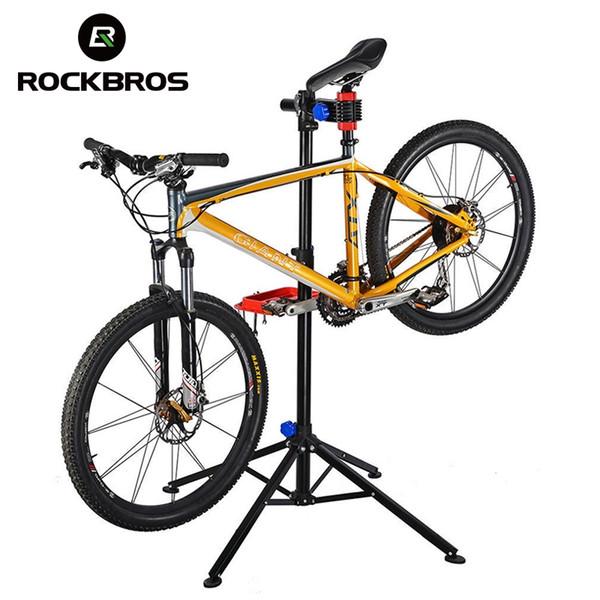 ROCKBROS 100-164cm Adjustable Bike Floor Repair Stand Portable Aluminum Alloy MTB Bicycle Cycling Rack Holder Maintenance Tools #80364