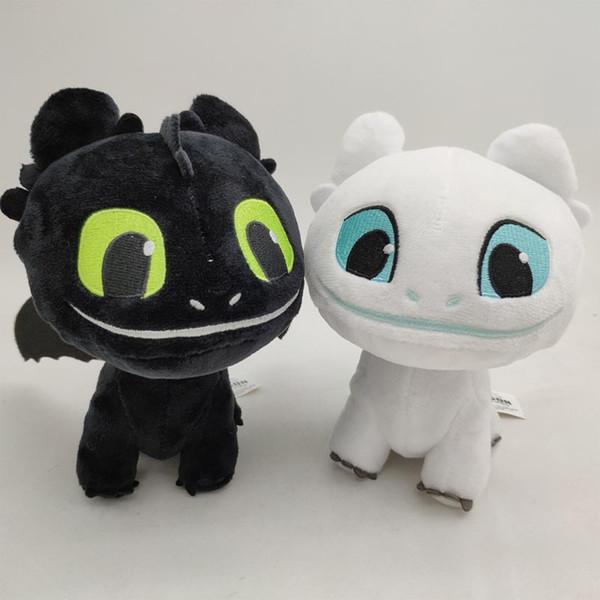 Comment former votre jouet en peluche Dragon 3 léger Fury Soft White Dragon Night Fury peluche peluche poupée enfants blanc jouet en peluche sans dents C22