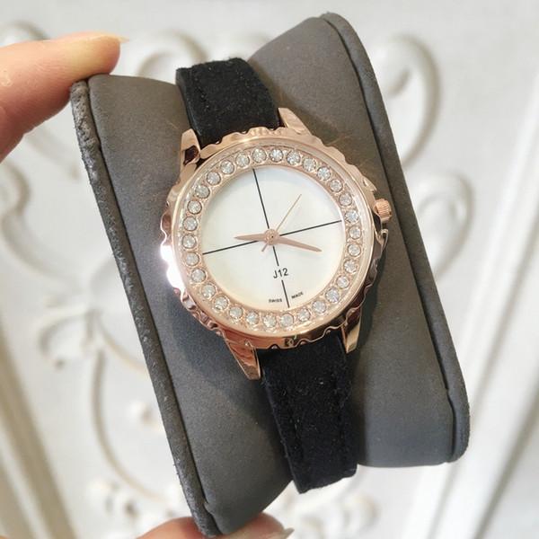 2019 TOP ultra mince Femmes Montre À Quartz Mince Casual Montre-Bracelet Affaires Véritable dame Montre Femme Relojes Hombre Diamant Robe De Luxe Montre