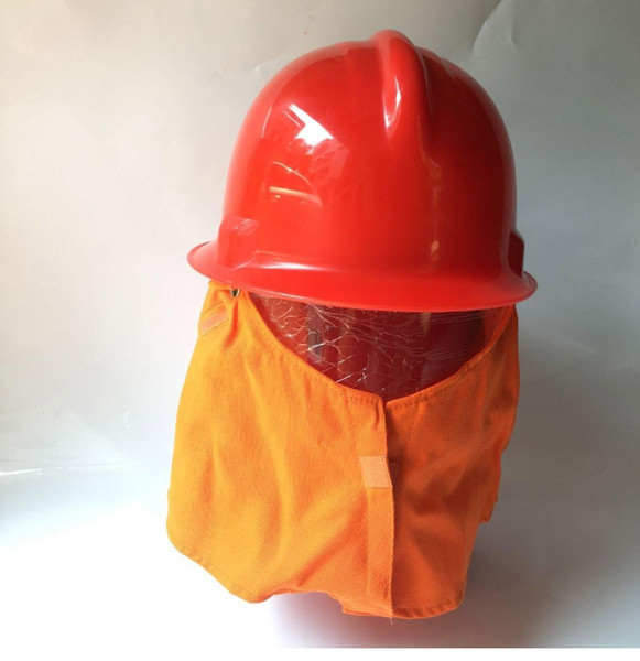 best selling Fire Helmet with Flame retardant Shawl Firefighter equipment Safety helmet Workplace protection Hard hat red color wholesale high quality
