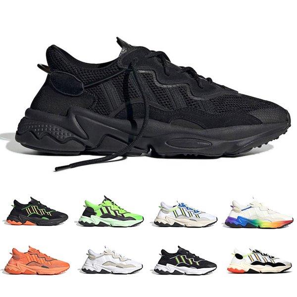 Triple Noir 3M réfléchissant Xeno Ozweego pour Hommes Femmes Chaussures Casual Neon Vert Jaune Solaire Noir Entraîneur de base Sport Sneakers Taille 36-45