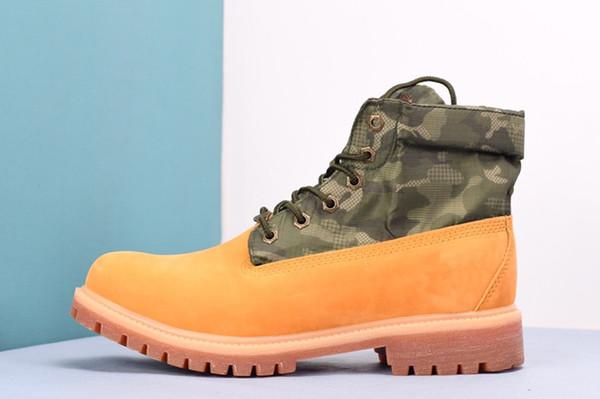 Nueva llegada 2019 Botas de invierno Womens Mens Mid Boots Calle conjunta Camo Botines de combate Trabajo táctico Militar Botas de invierno Trabajo al aire libre