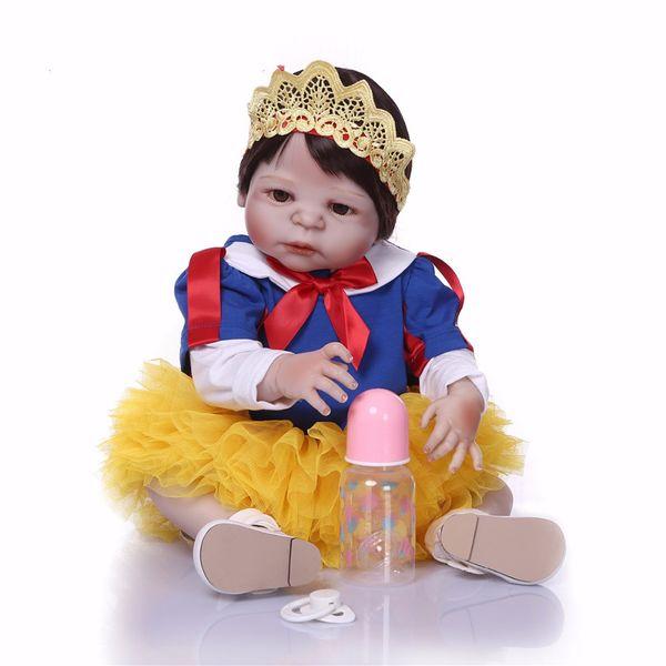 Bebe Reborn New design snow white Doll Full Silicone Body Lifelike Reborn Prince Doll Handmade Baby Toy Xmas Gifts