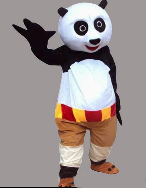 2018 vendita calda mascotte costume kung fu panda personaggio dei cartoni animati costume formato adulto