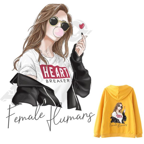 дизайн одежды железная печать на патчи для девочек одежда мультфильм наклейки передачи тепла наклейки футболки наклейки