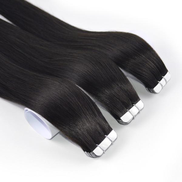 nastro di estensione dei capelli umani remy più milier capelli naturali brasiliani / peruviani / indiani / capelli malesi della trama della pelle dei capelli