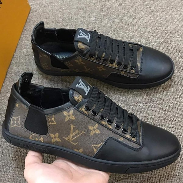 2019 New Designers shoes ACE Sneakers Luxury embroidered sport leisure shoes Genuine Leather Mens Sneakers Casual Shoes k132