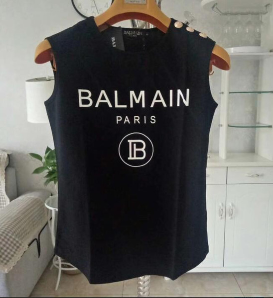 Diseñador de camisetas para mujer Señoras sin mangas para mujer Camiseta BAL Chaleco superior Modal Lady Yoga Sports Tank Tops chaleco