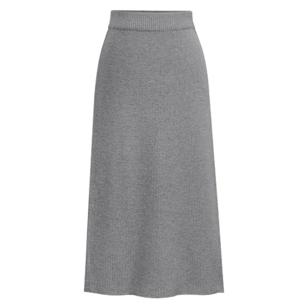 2019 New Winter Knitted Skirt Female Large Size Long Skirt 6XL High Waist Women Casual Bottoming Skirts Solid Color Jupe Longue