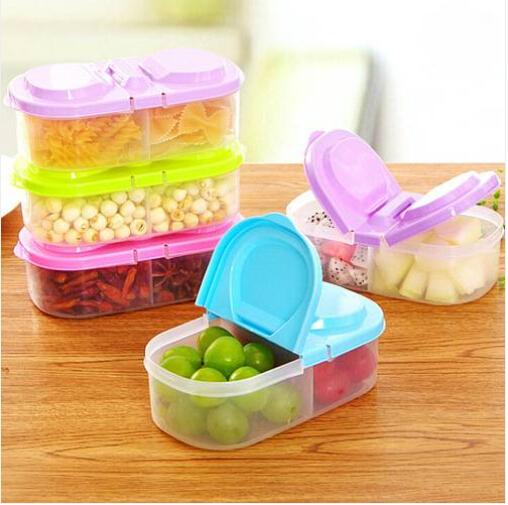 2019 Free shipping Wholesales Lunch Box Food Container Plastic Fruit Container Fridge Microwave Storage Box