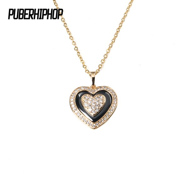 Fashion Lovely Heart Necklace for Women Gold Silver Color CZ Crystal Healthy Ceramic Women Necklace Wedding Jewelry Gift