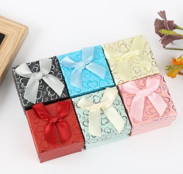 Scatole regalo per gioielli da collezione Scatole da regalo per orecchini Bracciale Collana color caramella Scatola regalo per gioielli GB388