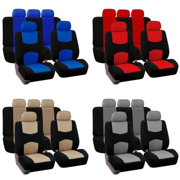 Dewtreetali Car Styling Conjunto Completo Car Seat Covers Universal Fit Protetores De Assento Auto Acessórios Interiores Decoração