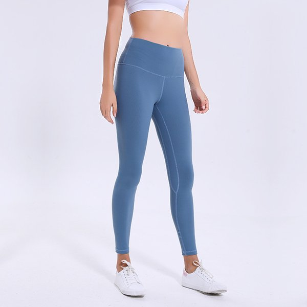 best selling L-36 Solid Color Women yoga pants High Waist Sports Gym Wear Leggings Sport Women Fitness Tights with Built-in pocket yoga pants