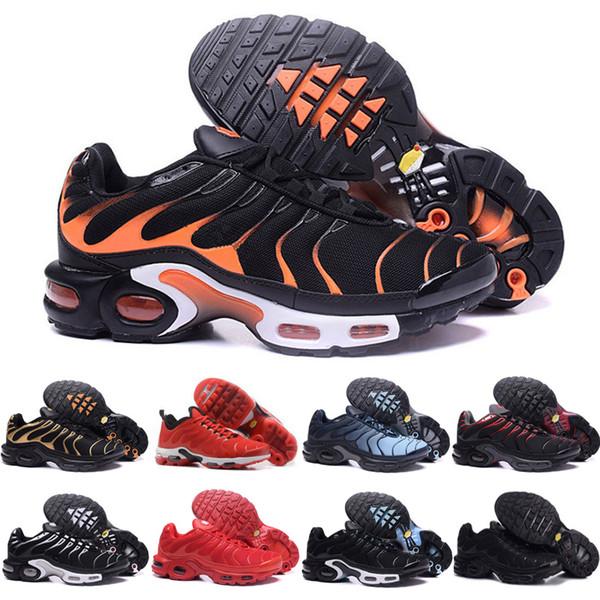 nike air max TN shoes Triplo Preto Vermelho Branco Sneakers para homens designer Laranja Amarelo Plus TN Sapato Sapatilhas Dos Homens Formadores Esportes Ao Livre Caminhada Sneaker