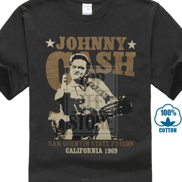 Custom T Shirts Homens Tripulação Pescoço de Manga Curta Melhor Amigo Johnny Cash Shirts Imprimir Tee