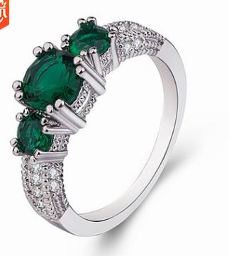3pcs/lots wholesale low price high quality diamond crystal jade women's ring size 5--10 (5tr