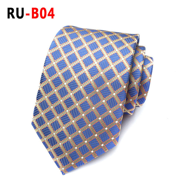 New Fashion Accessories Necktie Brand Fashion Classic Men Polyester Silk Ties for Men Business Tie High Quality Mens Neck Tie F10