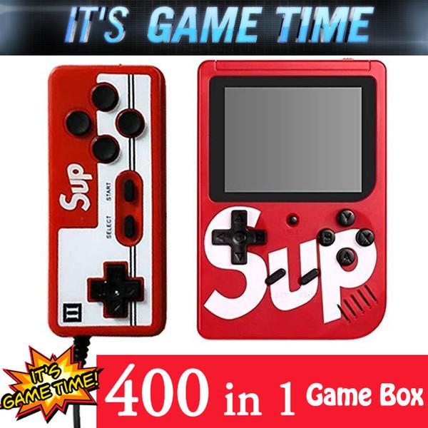 SUP мини игровая приставка 400 в 1 плюс цветной светодиодный экран для 2 игроков