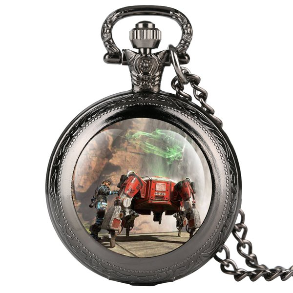 Personal APEXA HERO Pocket Watch Bronze Pocket Watches for Men Fashionable and Novel Clock Gift for Watch Students
