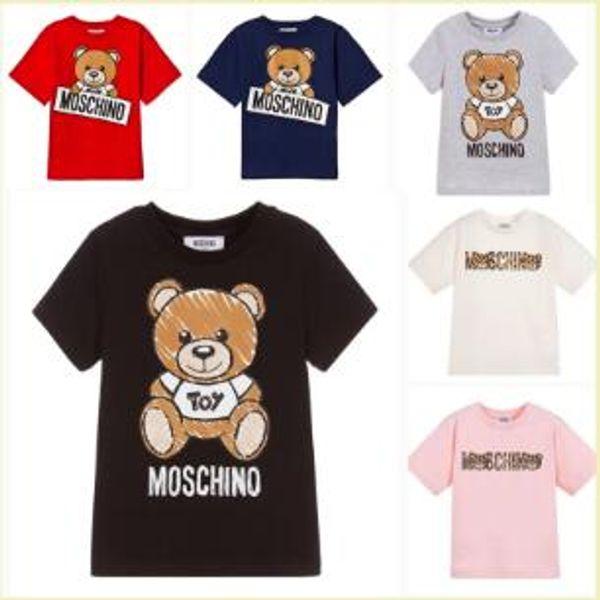 best selling Kids Designer T Shirts boys girls Brand Letter Bear Print Luxury Child Tops Tee Summer Fashion Clothing Boy Girl Designer Tshirts free ship