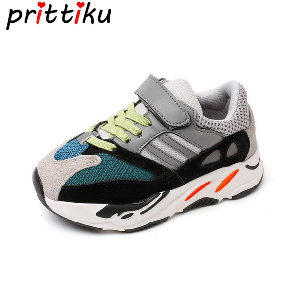 Boys Girls Fashion Brand Sneakers Children School Sport Trainers Baby Toddler Little Big Kid Casual Skate Stylish Designer Shoes Y18110304