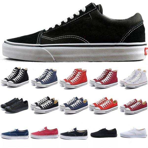 Großhandel Vans Converse Designer Schuhe Plattform Wans Klassische Alte Skool Canvas Männer Skateboard Star Designer Sport Laufschuhe Für Herren