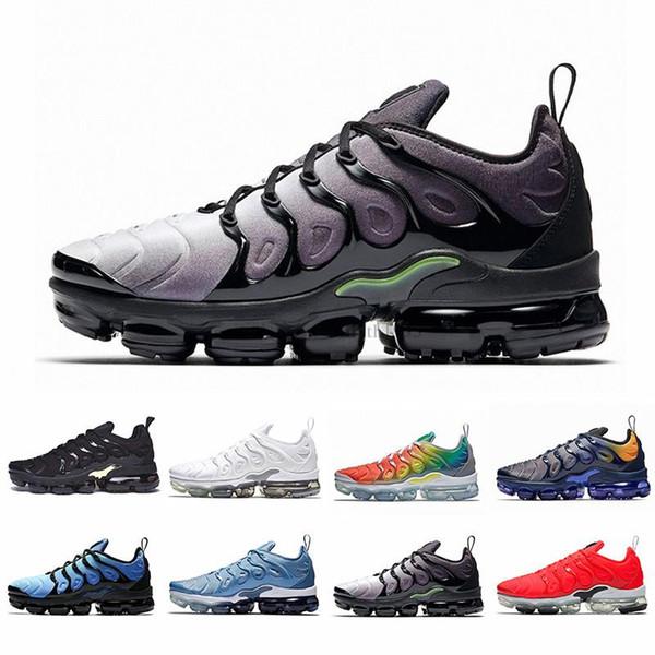 2019 Nueva llegada se desvanece Trabajo Azul Hombres Mujeres Zapatos para correr Platino puro Carmesí brillante Hyper Rainbow Hombres Volt Wolf Gris Zapatillas deportivas