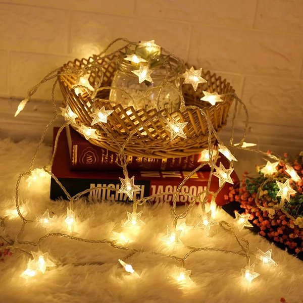 1 5m 10 Led Home Decoration Star Fairy String Light Festival Party Decor String Light Outdoor Garden Decor Star String Lights Dh1065 T03 Decoration