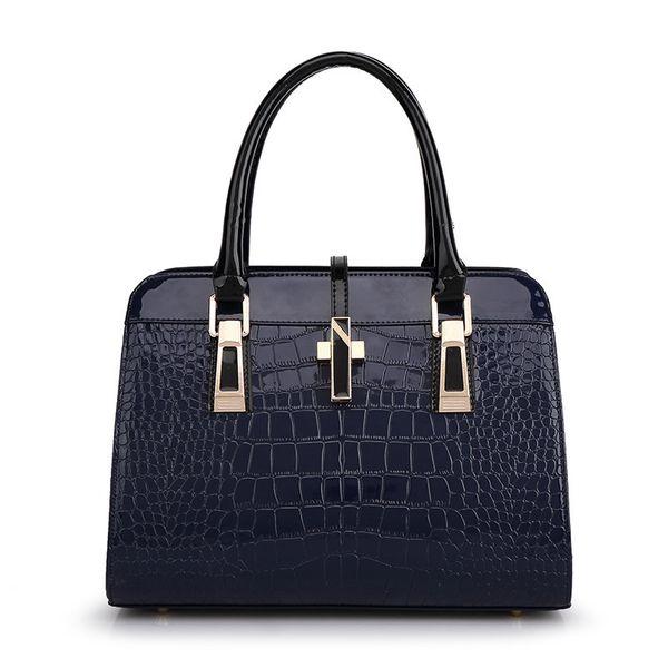 Exotic2019 Crocodile Trend Grain Pu Skin Cowhide Bag Oblique Satchel Hand Bill Of Lading Shoulder Package Woman