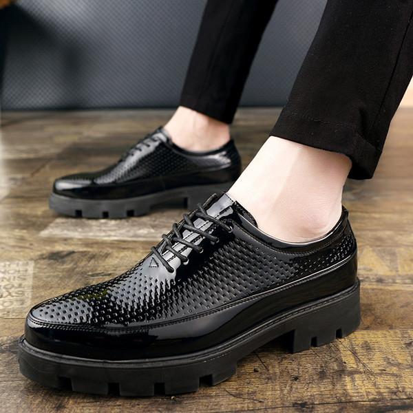 Erkekler Moda Ayakkabılar Rahat Düz Ayakkabı Açık Gençlik Eğilim Retro Kişilik Ayakkabı Giymek 37-43 Yards 2019 Sıcak Satış Ücrets ...