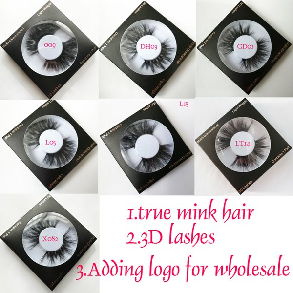 25mm Mink Hair eyelashes natural long Lashes False Eyelashes Mink Hair Eye Lashes Sexy Real Mink Natural fuller False Eyelashes private logo