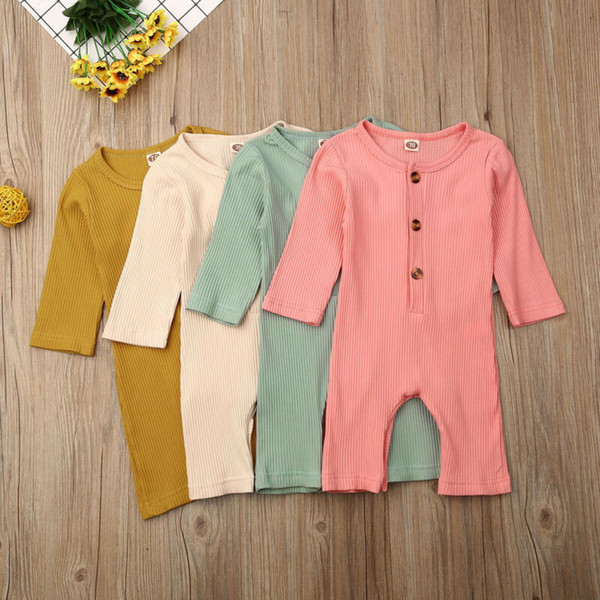 Hot Sale 0-18M Baby Solid One-piece Romper Newborn Babies Girl Boy Long Sleeve Rompers Cotton Jumpsuit Outfits Clothing Hot Sale 0-18M Baby Solid One-piece Romper Newborn Babies Girl Boy Long Sleeve Rompers Cotton Jumpsuit Outfits Clothing