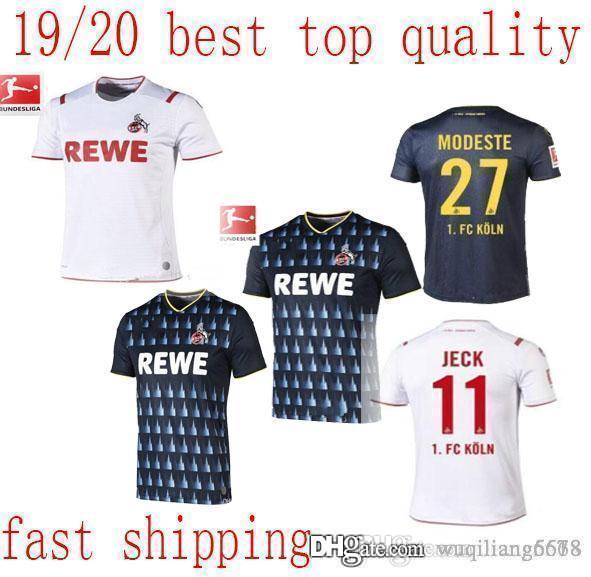meilleure qualité de nouveaux FC Köln maillots de football 2019 2020 Koln TERODDE Cordoba Kainz Accueil tiers blanc Modeste football loin noir Chemises Maillots