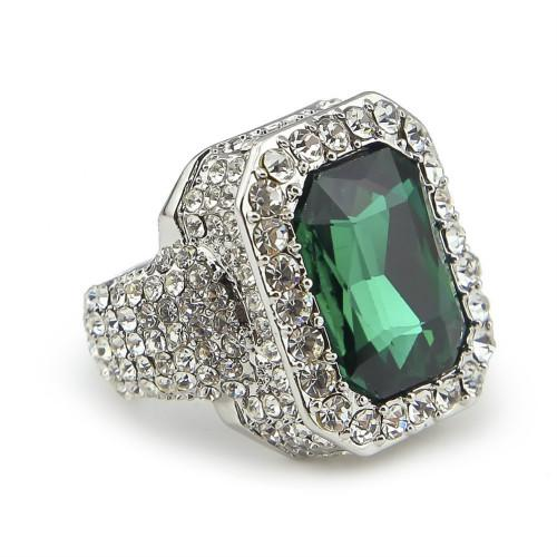 Silver with Emerald