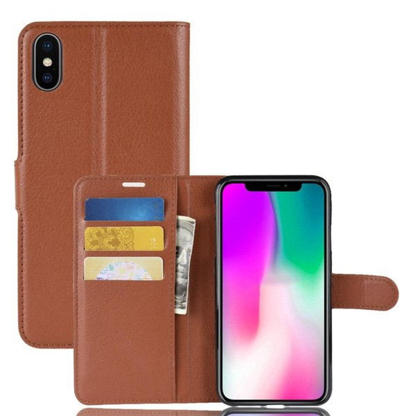 For iPhone X 6 7 8 Plus Orbit Flex Clamshell Case Card Inserting Leather Against Falling Protective Cover For iPhone XS Max XR