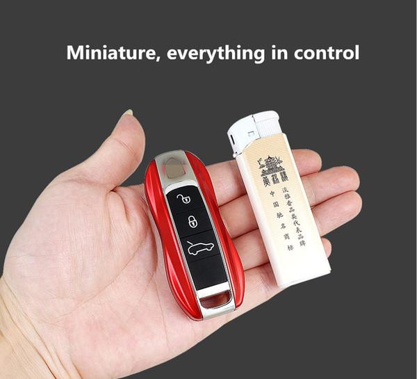 Nuovo Super Mini Cute Car Key Cellulare Dual Sim Card Magic Voice Dialer Bluetooth MP3 Recorder Bambini GSM Quad Band Cellulare