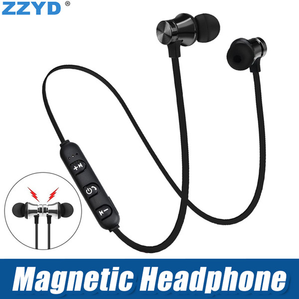 top popular ZZYD Magnetic Headphones Noise Canceling In-Ear XT-11 Headsets Bluetooth Wireless Earphones for iP8 8s Max Samsung with Retail Box 2021