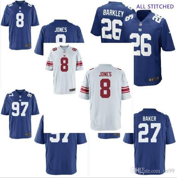 Mens 97 Dexter Lawrence Jersey Deandre Baker #8 Daniel Jones Vapor Untouchable Draft White Royal cheap american football jerseys Apparel