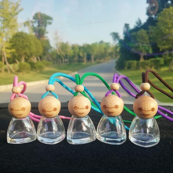 best selling 15ML Doll Perfume Bottle Perfume Sunny Baby Car Perfume Pendant Essential oil Doll Beauty Bottles Car Decoration Air Freshener GGA2440