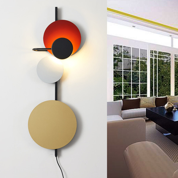 Nordic LED Wall Lights for Home Lustre Loft Decor Living Room Wall Lamps Hotel Hall Iron Ball Clothing Shop Cafe Art Wall Sconce