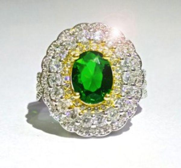 Wish women fashion jewelry zircon diamond mounted ring wedding engagement birthday Christmas festival gift