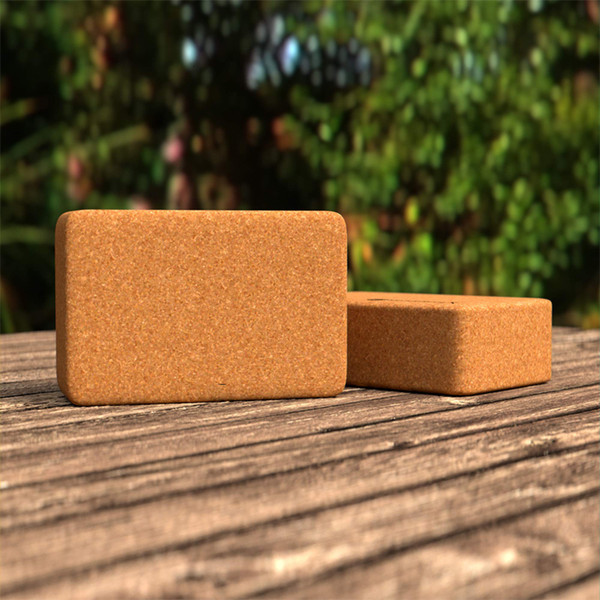 Antiderrapante Natural Wood Cork Yoga tijolo EVA Yoga acessórios para blocos de Pilates tijolo ferramenta de fitness alta elasticidade Tasteless Dança Yoga T191029