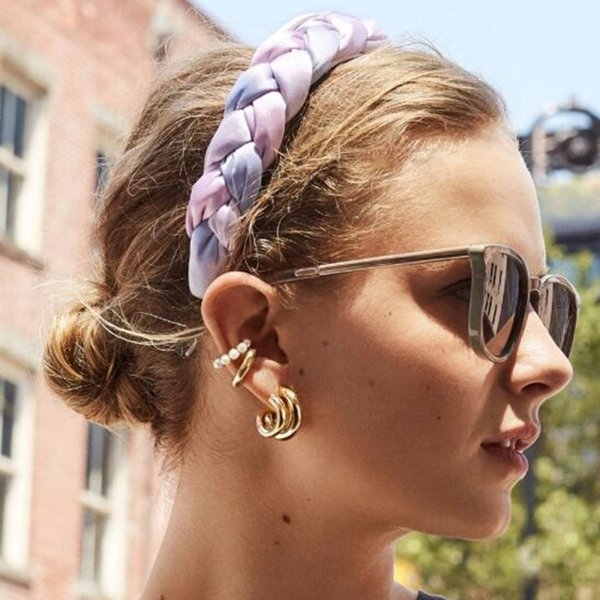 Womens Fabric Headband Twist Hairband Knotted Hair Band Hoop Hair Accessories