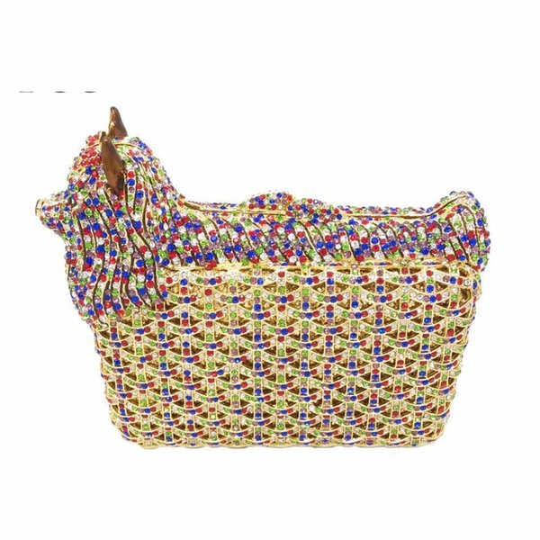 Nice Animal Shape Party Crystal Bags Women Diamond Evening Clutches Purse Wedding Prom Clutch Bag Ladies Small Dog Handbags